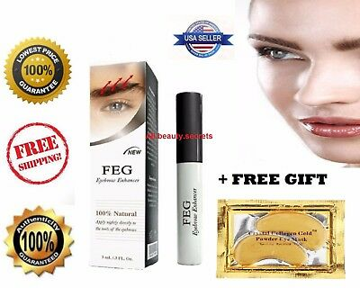 FEG Eyebrow Enhancer Rapid Growth Serum ~100% Natural~USA ~Super Fast Shipping!