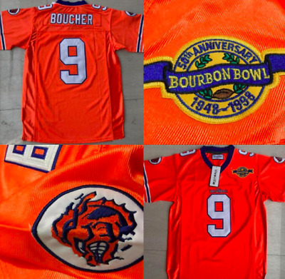 Bobby Boucher The Waterboy  9 Football Jersey with Bourbon Bowl patch 11aae74bc
