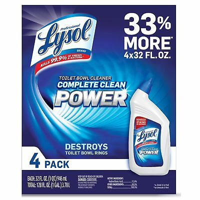 Lysol Power Toilet Bowl Cleaner, 10X Cleaning Power 128oz. (4X32oz)