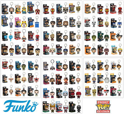 Funko Pocket Pop! Keychain Vinyl Figure Keyring Collectable Toy Gift New In Box