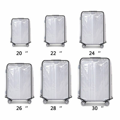 Clear PVC Plastic Luggage Cover Suitcase Protector Covers 20/22/24/26/28/30 inch