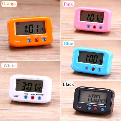 "2.7"" Small LCD Digital Time & Date Alarm Clock Stop Snooze Night Light Kitchen S"