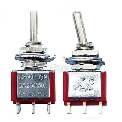 100pcs High Quality 6 Pin DPDT ON-OFF-ON 3 Position Mini Toggle Switches MTS-203