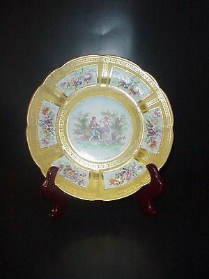 Saxe Crown Porcelain Cabinet Collector's Plate Love Scene