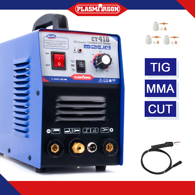 TIG MMA Cut Plasma Cutter Welder Inverter Stick Welding Machine 3in1 IN UK Stock