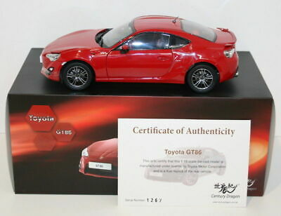 Century Dragon 1/18 Scale Diecast - 2012 Toyota GT86 - Red