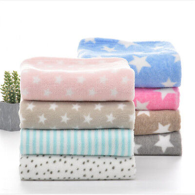 Newborn Baby Bedding Blankets Coral Fleece Blanket Thicken Infant Swaddle BS