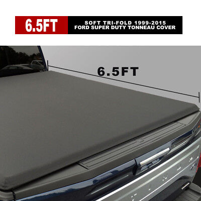 Leather  6.5' Soft Tri-Fold Tonneau Cover Fits 1999-2015 Ford Super Duty Bed