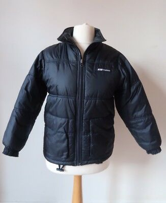 Reebok Puffa Jacket Small S Navy Blue Vintage Zip Up Thick Winter Coat