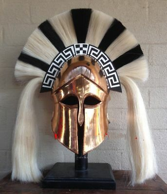 Vintage Medieval Wearable Greek Corinthian Armor Helmet W/Leather Liner Replica