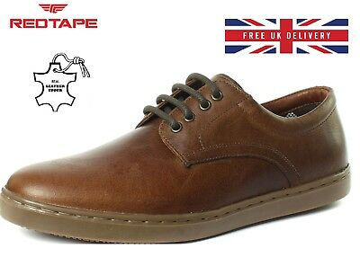 New Mens Tan Leather Shoes Lace Up Office Formal Dress Wedding Shoes UK Sizes