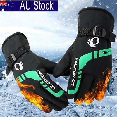 Men Winter Sports Warm Thermal Waterproof Thickened Ski Snow Snowboard Gloves AU