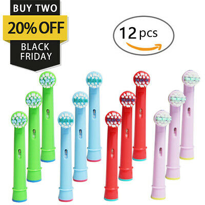 4/20 Fits For Braun Oral-B EB10 Kids Toothbrush Replacement Brush Head Stage Pro