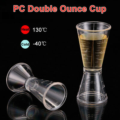 S / L Jigger Single Double Shot Cocktail Wine Short Drink Bar Party Measure Cup