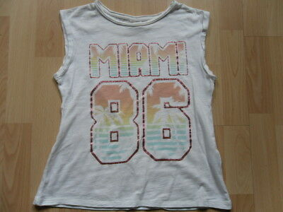 GIRLS*ZARA* Glitter Detail Palm print Miami tshirt top*7-8y
