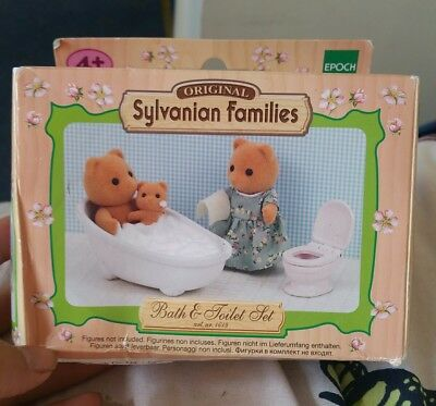Original Sylvanian Families bath toilet Set BNIB Collectors Item CHRISTMAS GIFT