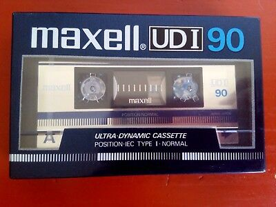 CASSETTE TAPE BLANK SEALED - 1 x (one) MAXELL UDI 90 [1985-86]  made in Japan