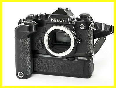 Nikon FE 35mm Spiegelreflexkamera, black, inc. MD-11, Motor/Winder