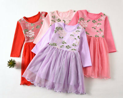 baby girls clothes kids girl birthday wedding party dress daily pageant dress