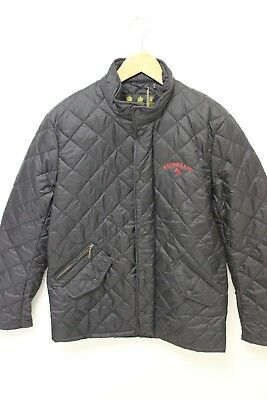 Nwt Barbour Flyweight Chelsea Quilt Black Red Barn Jacket W/ Logo Sz Small