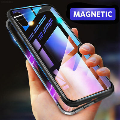 Magnetic Absorption Phone Case Metal Edge Cover For iPhone XS Max XR X 8 7 6S