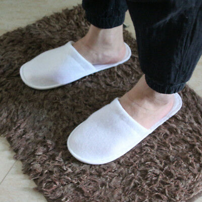 5b3aaa2666b 10 pairs SPA HOTEL GUEST SLIPPERS CLOSE TOE TOWELLING DISPOSABLE TERRY  STYLE NEW