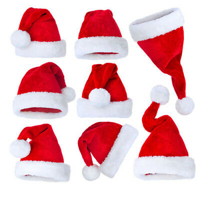 Unisex Father Christmas Hat XMAS Santa Family Gift For Adult Kid Baby lot US
