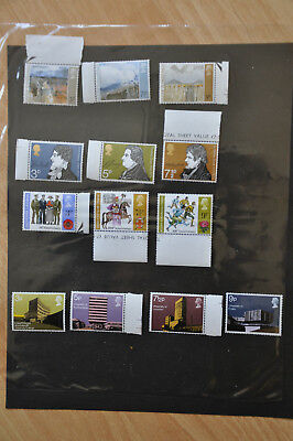 1971 GB Commemorative Stamps, Year Set - unmounted mint
