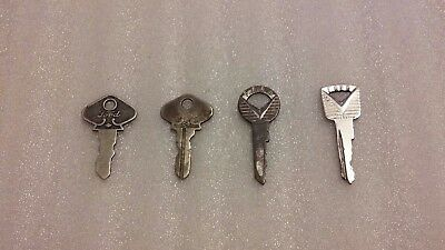 Lot of 4-FORD Keys ~Vintage Ford Model-A/Model-T Keys? #67/73 and two other Ford