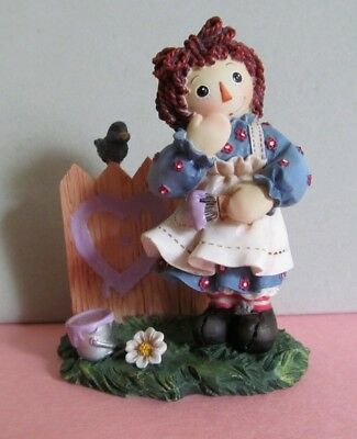 "Raggedy Ann & Andy Figurine ""A Heart Full of Happiness"""
