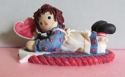 "Raggedy Ann & Andy Figurine ""For You With All My Heart's Best Love"" Collectible"