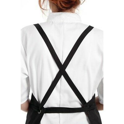 Whites Chefs Apparel Southside X-Cross Back Bib Apron Black Unisex Kitchen