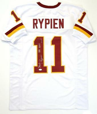 9c10a85f Mark Rypien Autographed White Pro Style Jersey w/ SB MVP- JSA Witnessed Auth  *