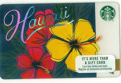 2017 NEW Starbucks Hawaii Destinations Gift Card Limited Edition Hibiscus Flower