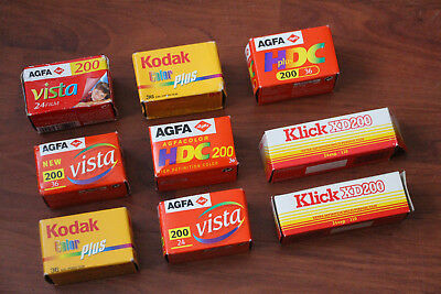 JOB LOT OF SEALED AGFA/KODAK AND KLICK 35mm AND 110 FILM, (DATE EXPIRED).