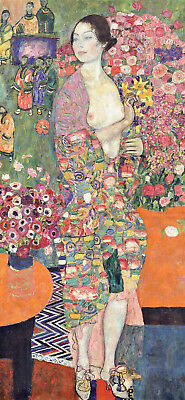 The Dancer Gustav Klimt 1916-17 Poster Canvas Picture Art Print Premium A0- A4