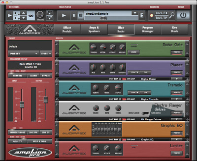 New Audified Amplion Pro Guitar PreAmp Simulations Software Mac PC VST AAX AU