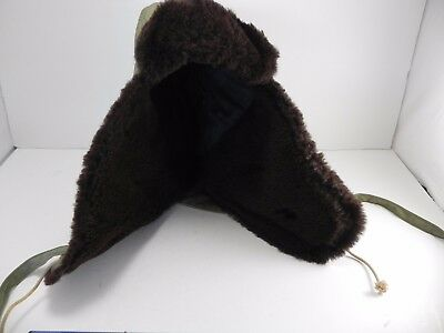 WWII WW2 Winter Lined Hat Cap