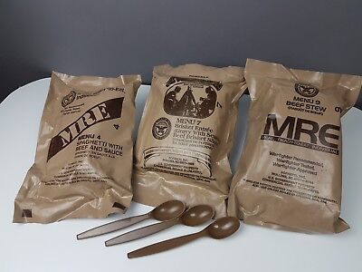 MRE 3er Pack ** Meal Ready to Eat ++ US Army Outdoor Survival Tactical Camping