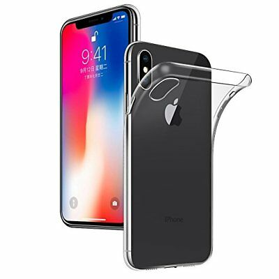 Case for iPhone Xr Xs X 8 7 6 5 Max Cover Rubber Transparent Slim Clear Gel TPU