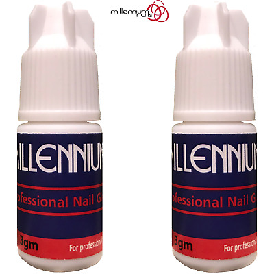 Millennium Nails Adhesive Glue 2x 3g Super Strong / False Nail Tips & Extensions
