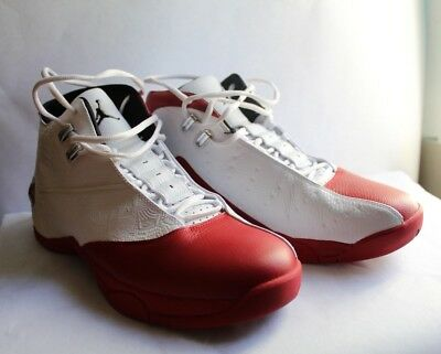 uk availability 23558 2f7b6 Jordan 12.5 White Varsity Red Black Men s Basketball Athletic Shoes 317176- 105