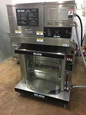 Giles  RT-5 Electric Rotisserie Oven w/ Giles OVH-10 Ventless Hood