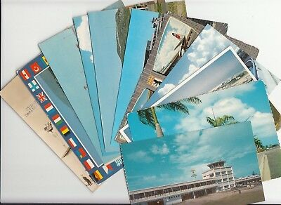 Lot of 11 Foreign Airports Postcards Airplanes Planes Terminals Berlin Pudong