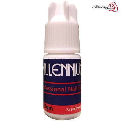 Millennium Nails Adhesive Glue 3g Super Strong For False Nail Tips & Extensions