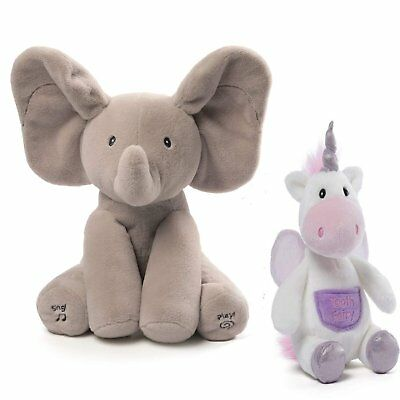 GUND Baby Animated Flappy The Elephant and Flitterina Unicorn Toothfairy Pal...