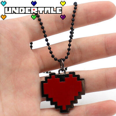 Hot Game Undertale Sans Red Heart Pendant Necklace Chain Cosplay Collection Gift