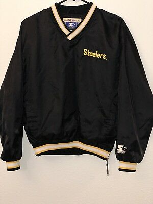 Pittsburgh Steelers Pullover Starter Sz Large Pro Line NFL SideZip Jacket  Youth 06f137511