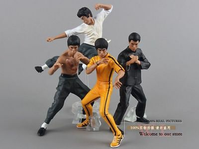 Free Shipping Cool Bruce Lee Kung Fu PVC Action Figures Toy 4pcs/set New in Box