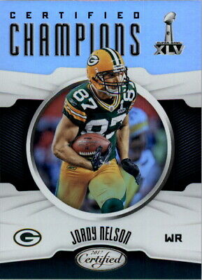 1a7ce33850b 2017 Certified Champions Green Bay Packers Football Card  4 Jordy Nelson